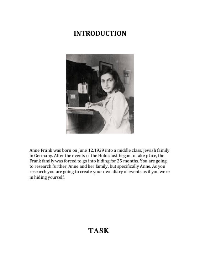 anne frank research paper thesis