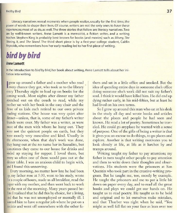 "Anne Lamott ""Bird by Bird"""