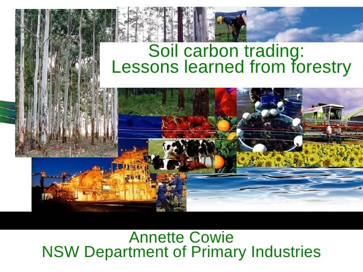 Annette Cowie NSW Department of Primary Industries Soil carbon trading:  Lessons learned from forestry