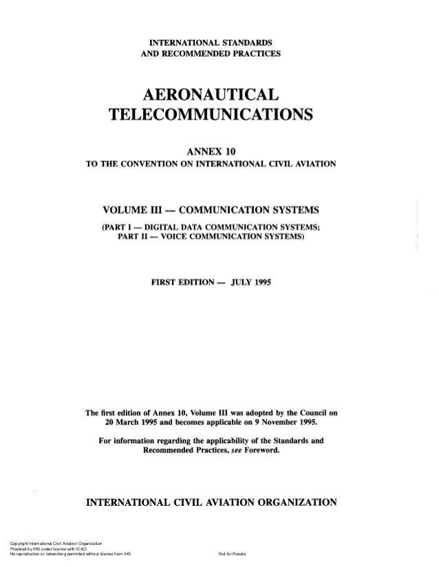 Annex 10 aeronautical telecomunications vol 3