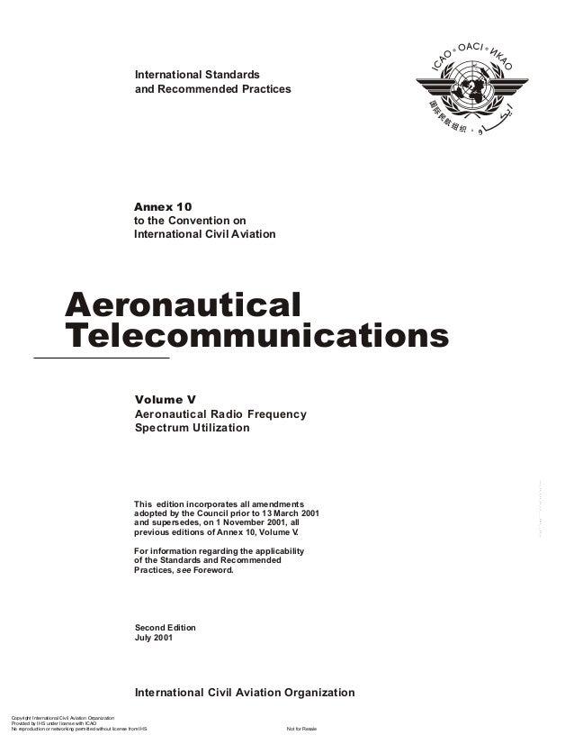 Annex 10 aeronautical telecomunications vol 5