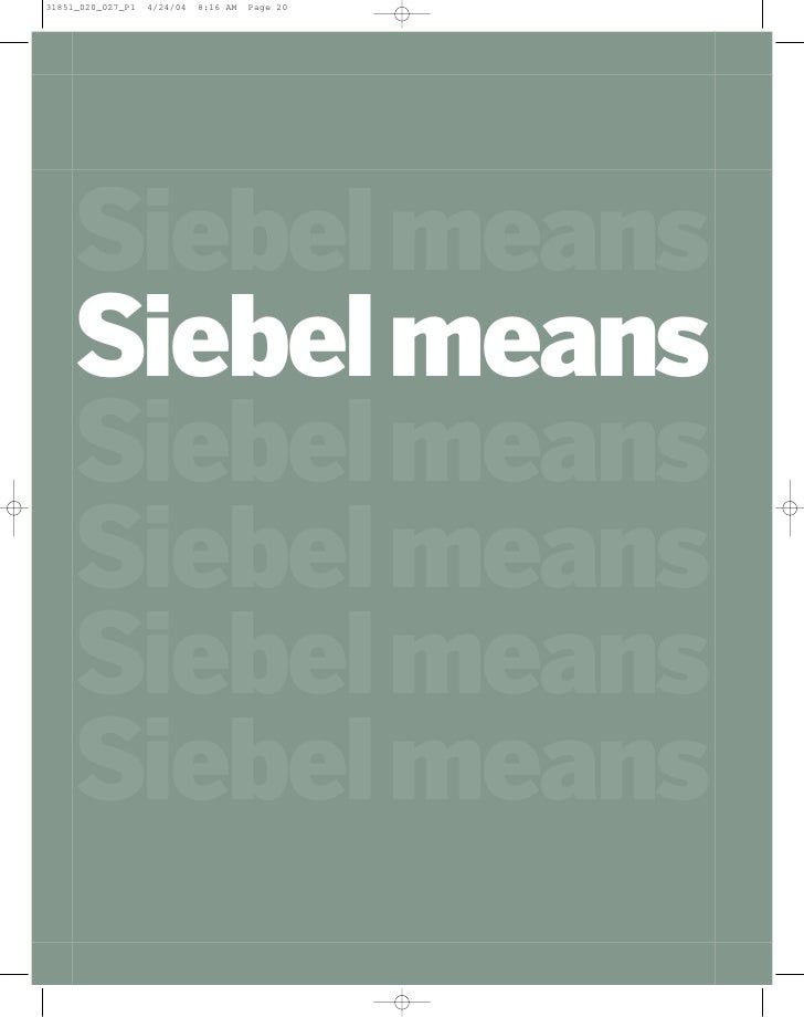 Siebel Annual Report