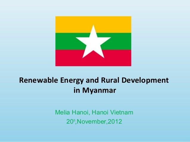 Annex 20 (myanmar) renewable energy