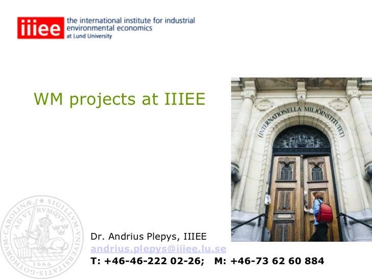 Annex 5 WM projects