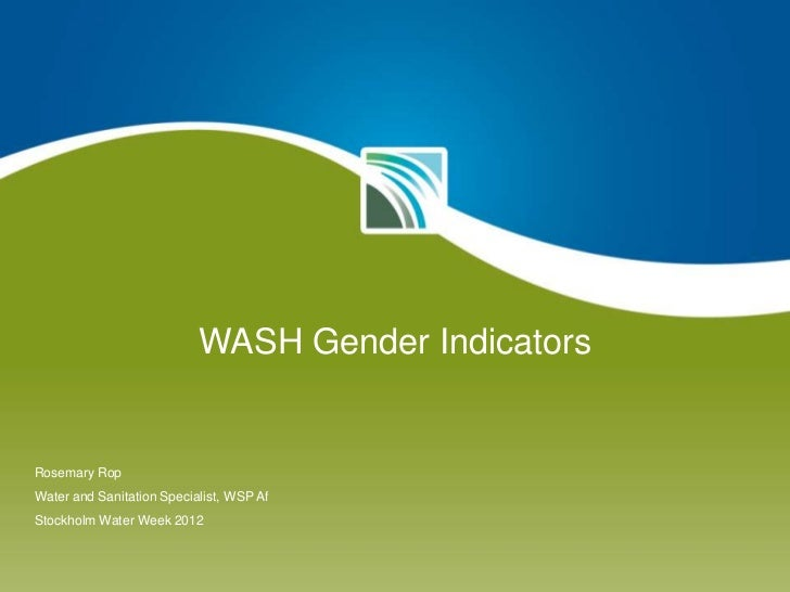 WASH Gender Indicators by Rosemary Rop