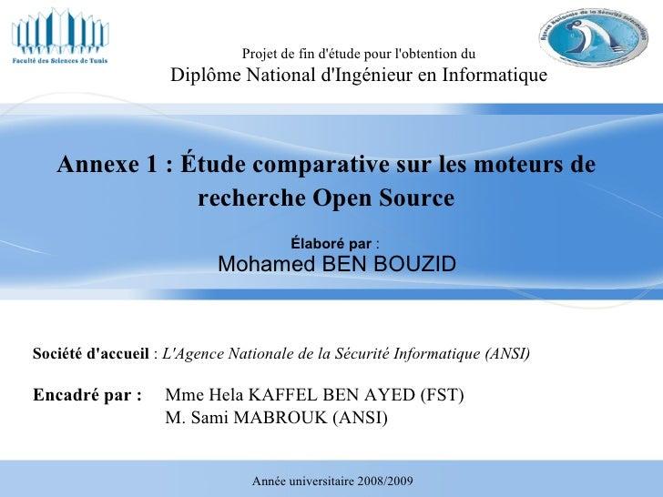 Annexe1   éTude Comparative Sur Les Moteurs De Recherche
