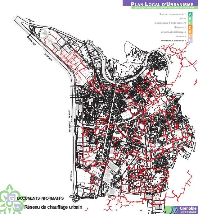 Plan du réseau de chaleur de Grenoble (annexe du PLU)