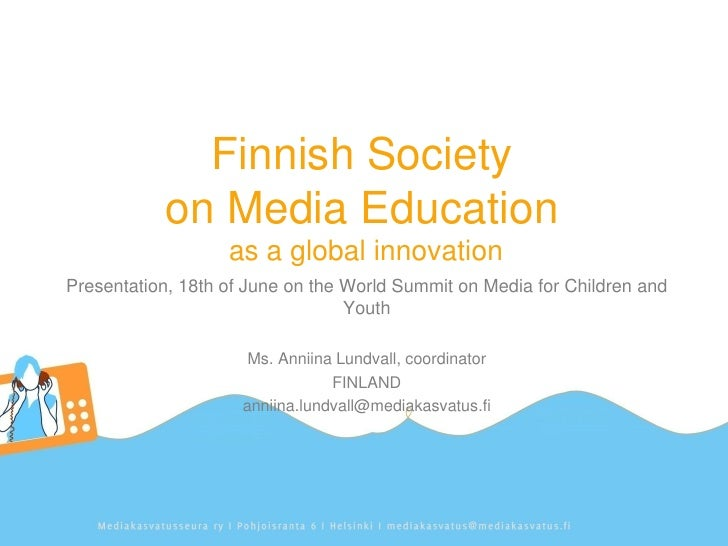 Finnish Society on Media Education as a global innovation