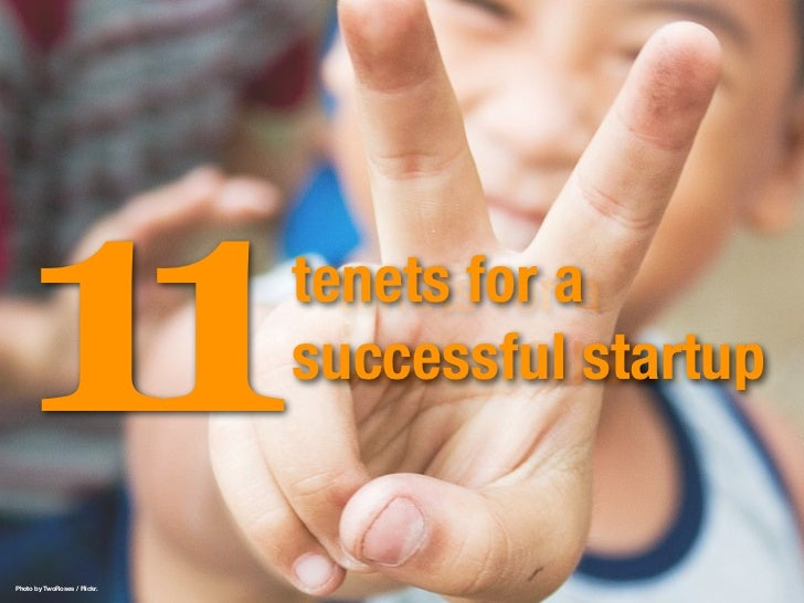 11 tenets of a successful startup