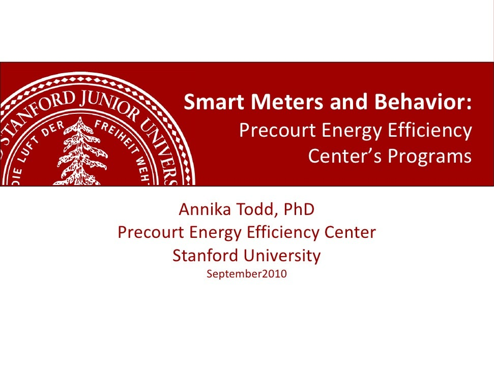 Annika todd smart meters, smart grid and the future of energy use