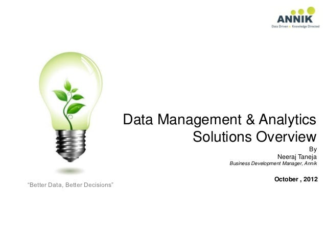 Data Management & Analytics                                           Solutions Overview                                  ...