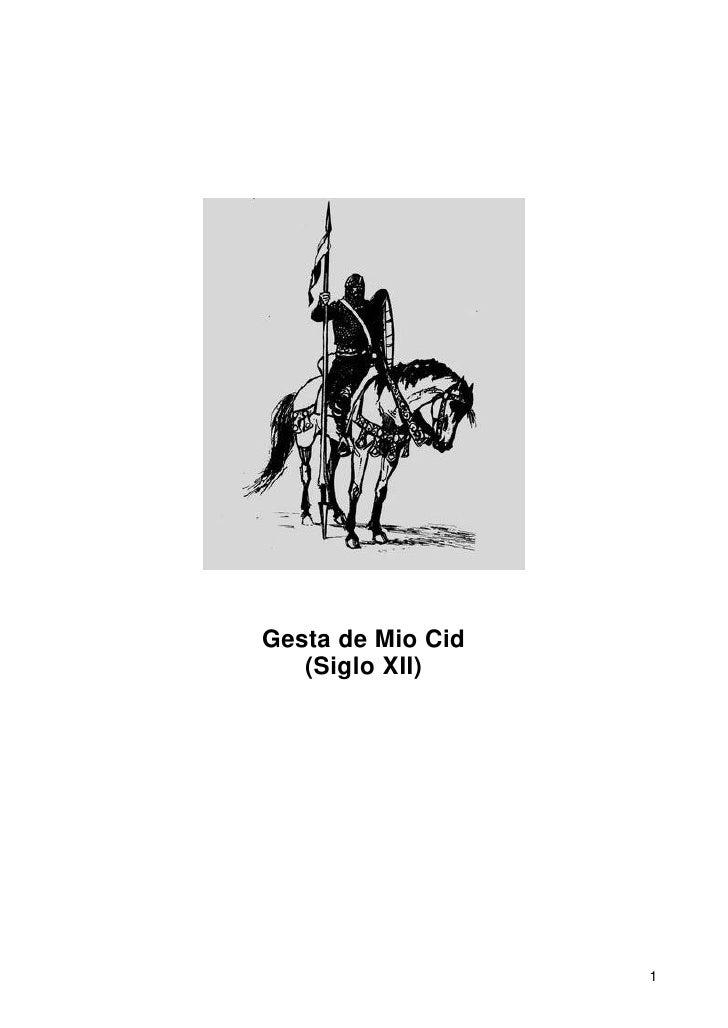 Annimo   Cantar De Mio Cid
