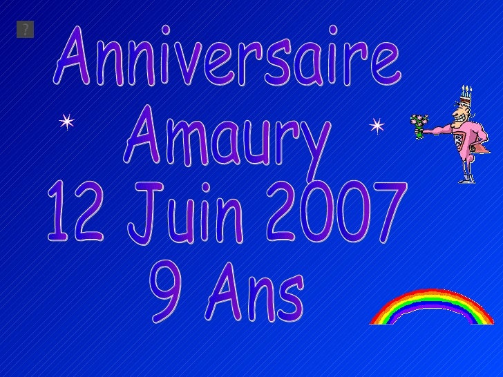 Anniversaire Amaury 2007