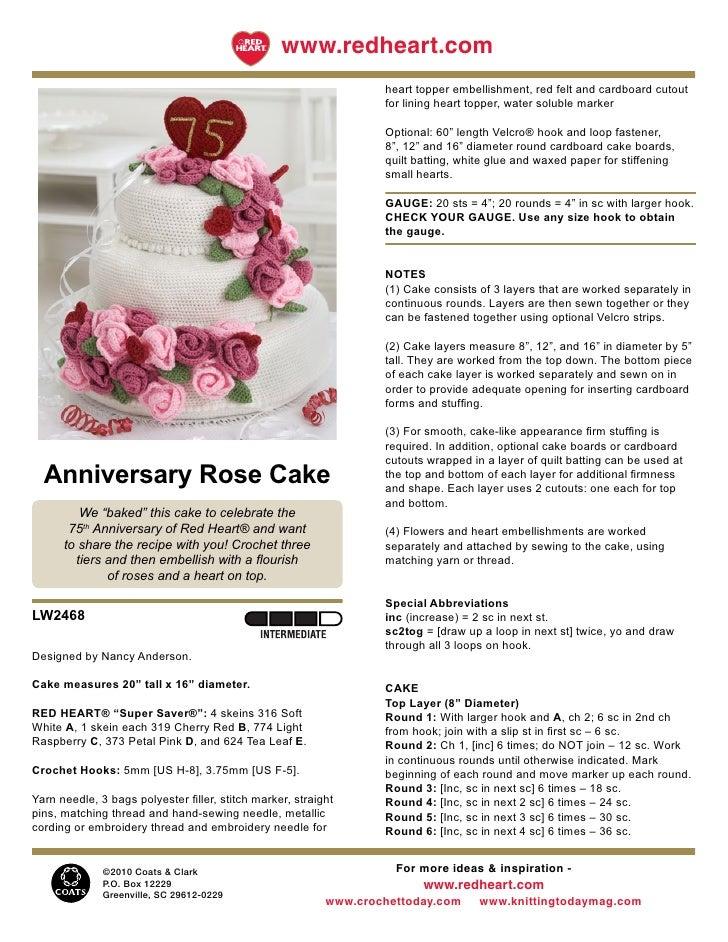 Anniversary cake crochet