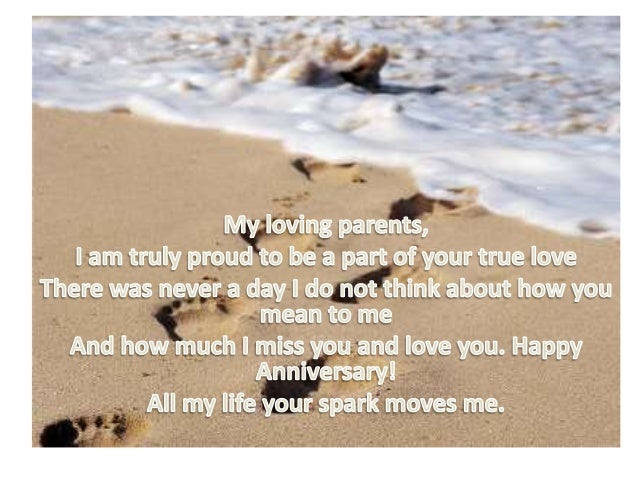 anniversary to my parents