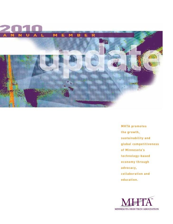 MHTA 2010 Annual Member Update