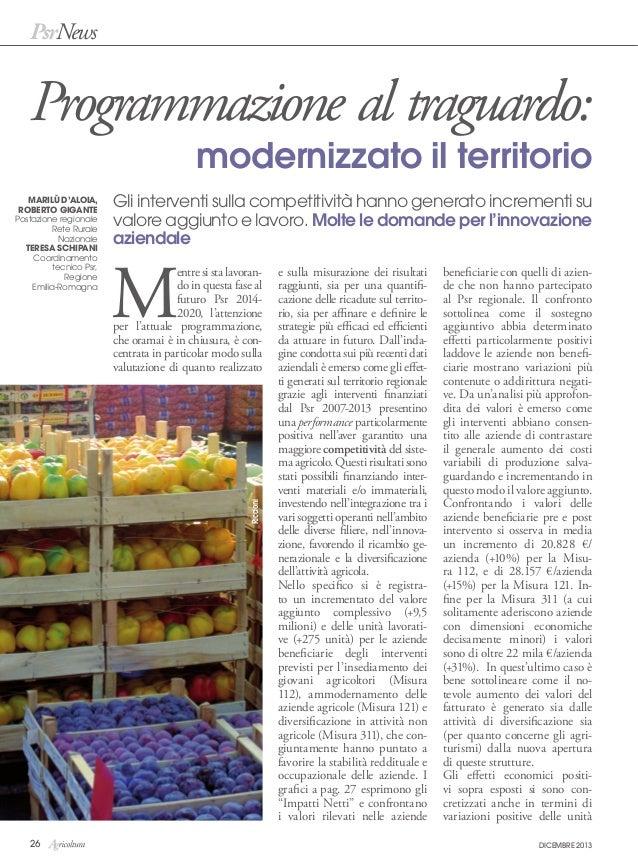 Anno 2013   rivista agricoltura