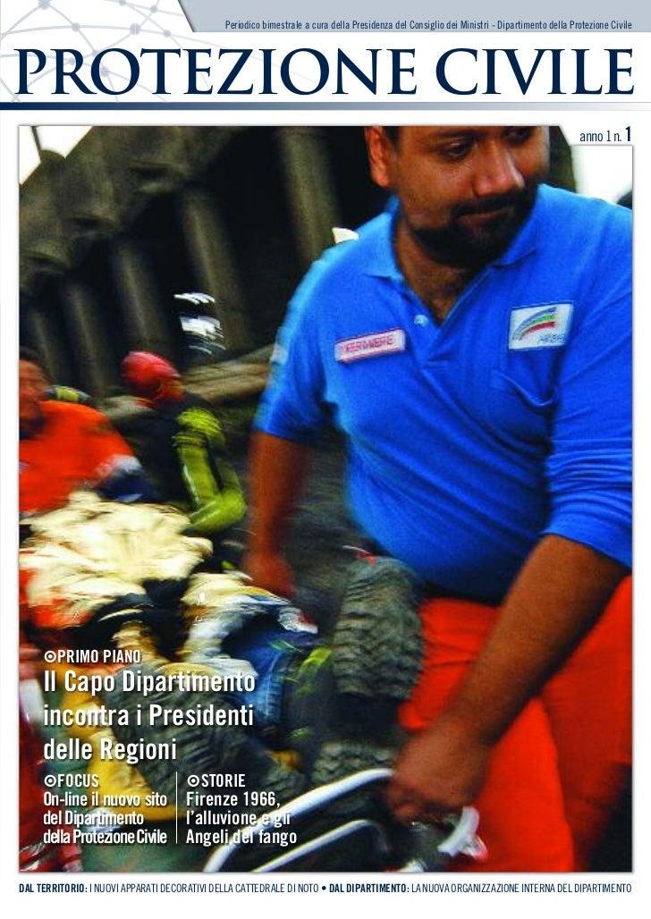 Magazine Protezione Civile - Anno 1 - n. 1 - Gennaio-Febbraio 2011
