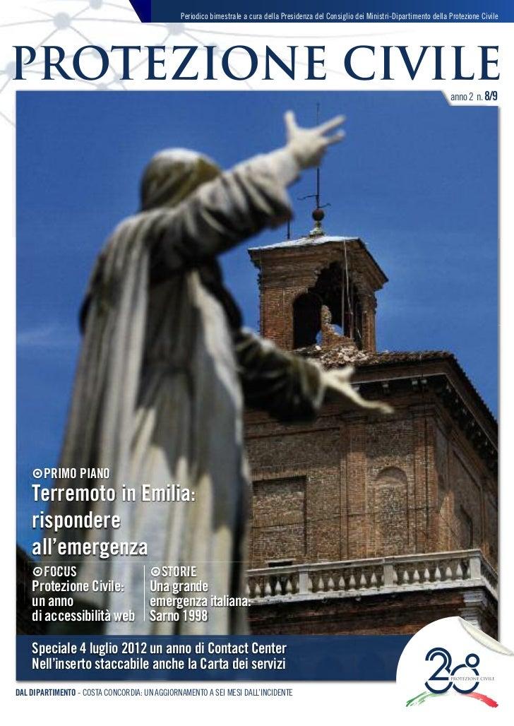 Magazine Protezione Civile - Anno 2 - n. 8/9 - maggio/agosto 2012