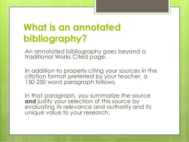 annotative bibliography1 essay
