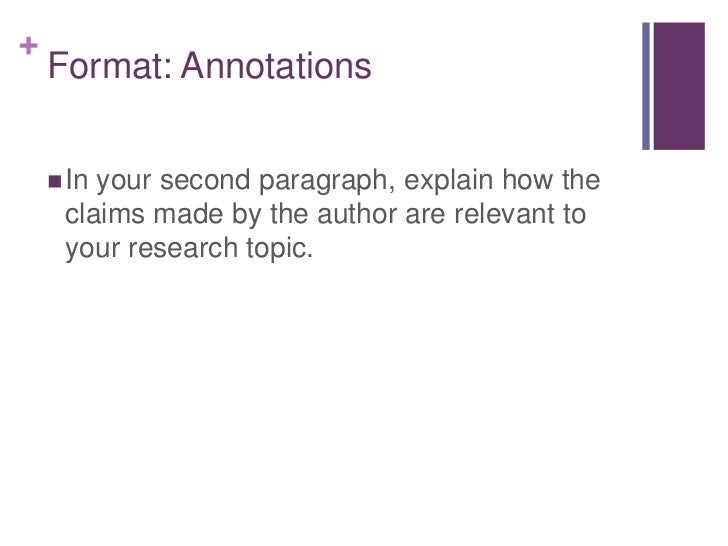 annotated bibliography alphabetical order