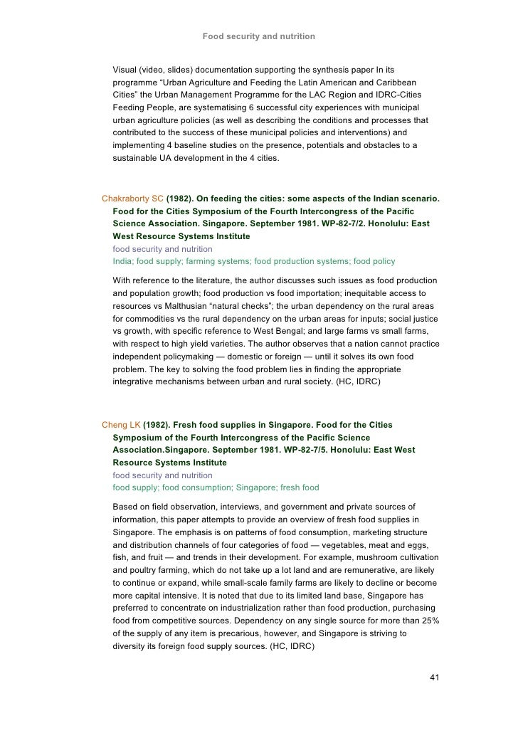 Agriculture free paper research