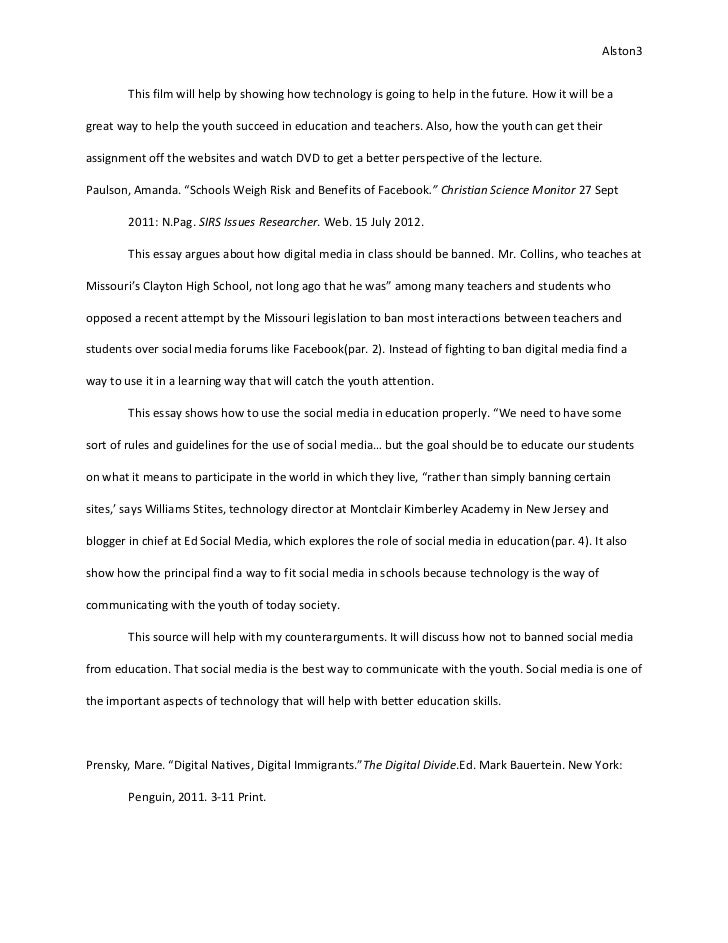 argumentative essay on todays youth and social media