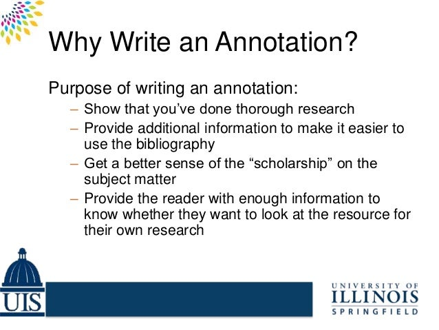 Write annotated bibliography