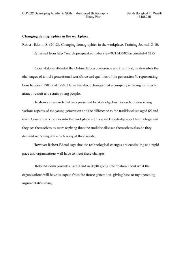 Bibliography for essay