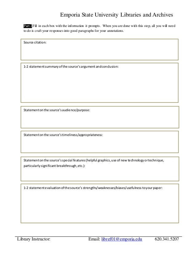 annotated bibliography worksheet What is an annotated bibliography an annotated bibliography is an organized list of sources (like a reference list) it differs from a straightforward bibliography.