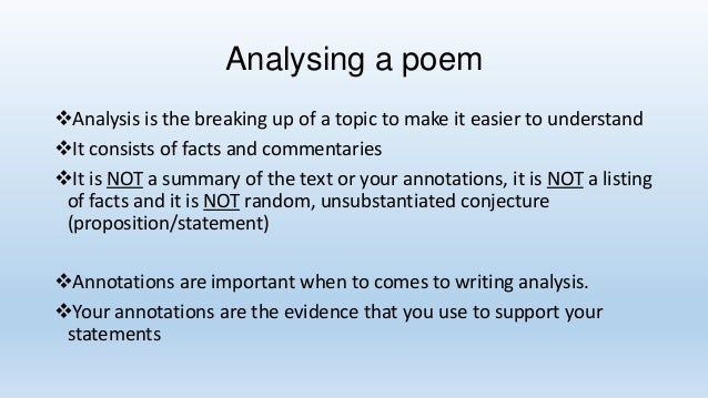 analysis essays of poems