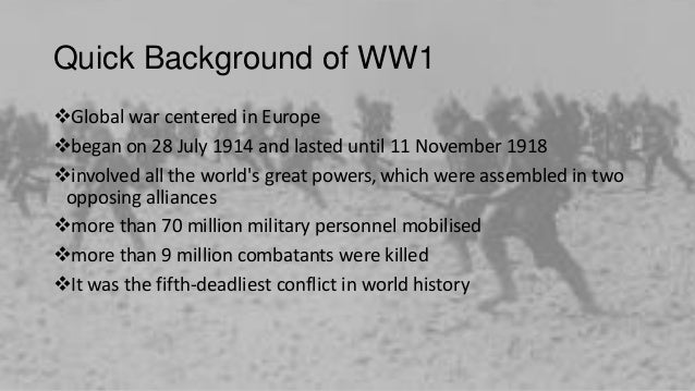 "world war 1 and 2 essays World war 1 essay among all the disasters, caused by humanity, world war i was the first global disaster it is known as ""the great war"" because of its terrible consequences and all the pain and sorrow it brought to people."