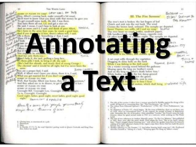 Annotatinga Text