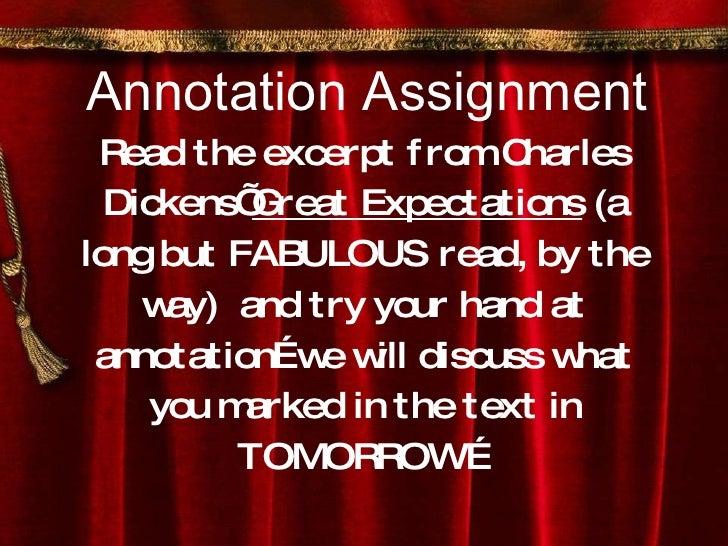 Annotation assignment