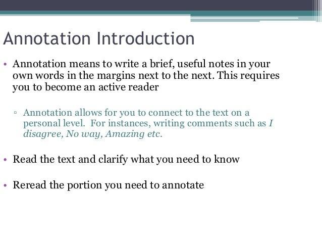Annotation Dissertation