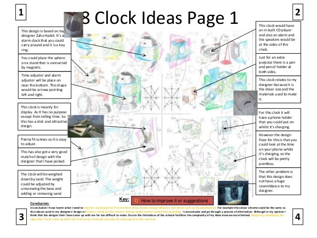 clock ideas page 1 1 this design is based on my designer zaha hadid