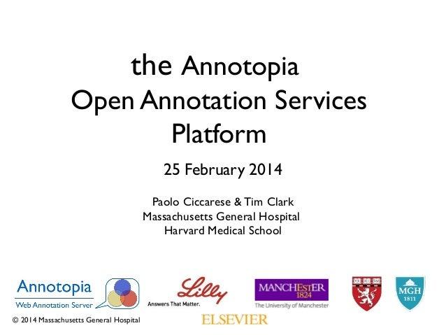 Annotopia open annotation services platform