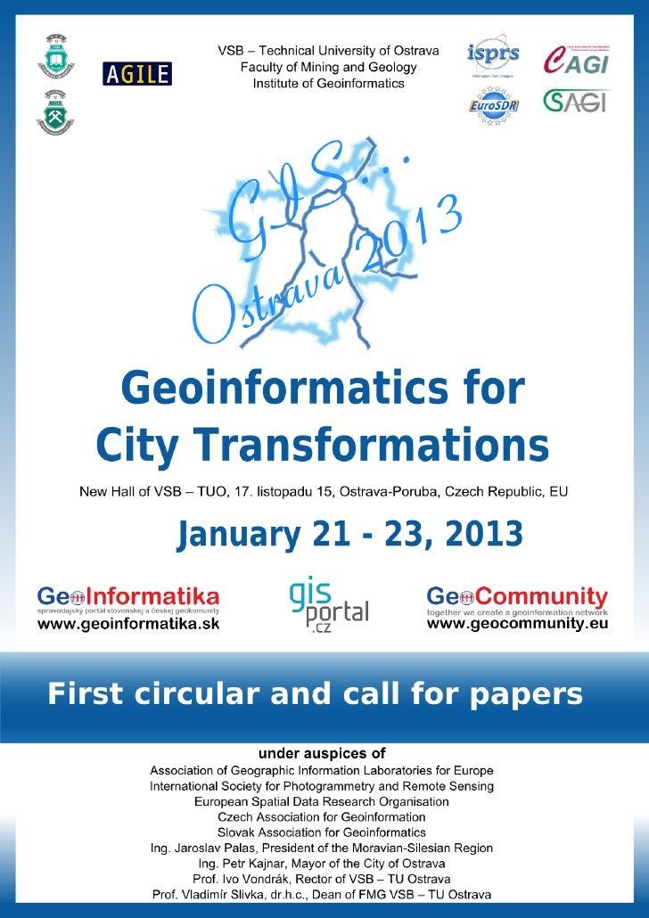 GIS Ostrava 2013: Geoinformatics for City Transformations - 1st circular