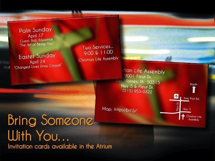 Bring SomeoneWith You…Invitation cards available in the Atrium