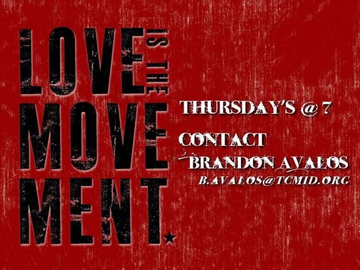 Thursday's @ 7ContactBrandon Avalos b . av a l o s @ t c m i d . o r g