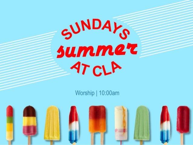 Worship | 10:00am summer