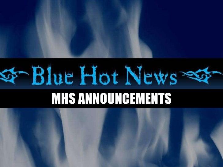 Announcements 9 1 09