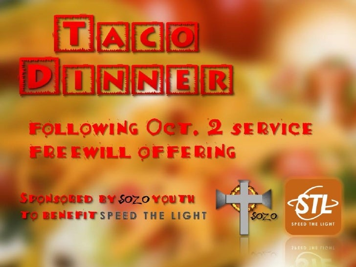 following Oct. 2 service freewill offeringSponsored by SOZO youthto benefit