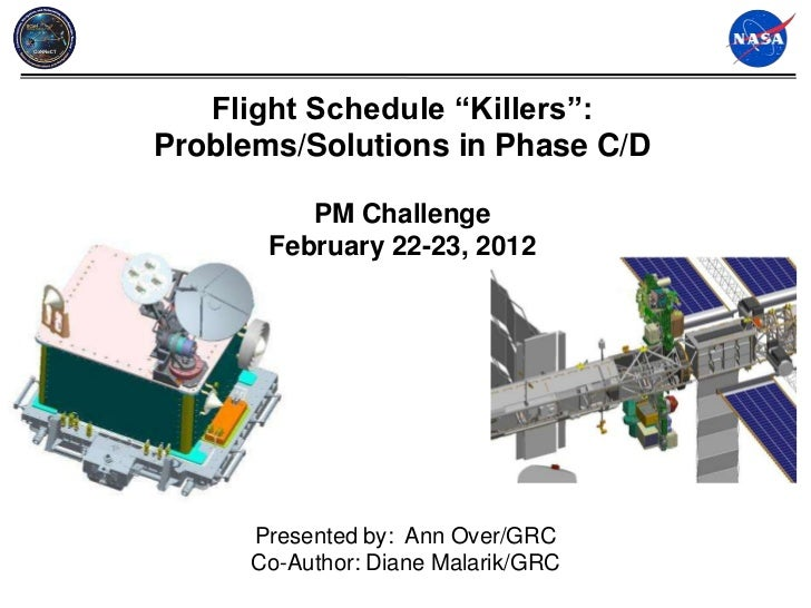 "Flight Schedule ""Killers"":Problems/Solutions in Phase C/D          PM Challenge       February 22-23, 2012      Presented ..."