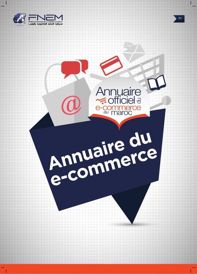 Annuaire Officiel du e-commerce Maroc By Fédération Nationale du E-commerce du Maroc. 2014