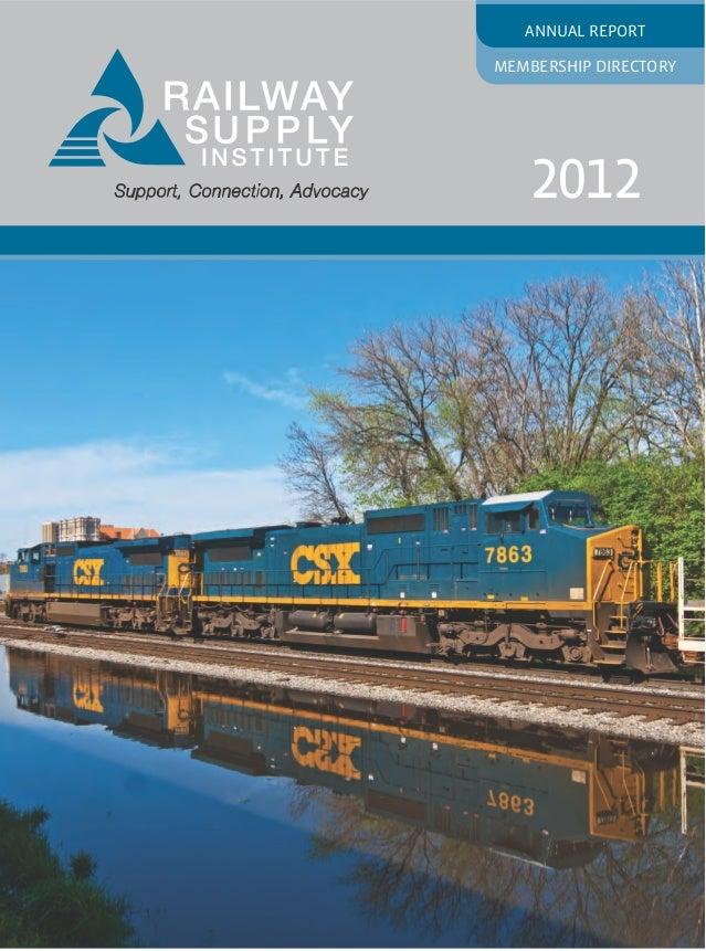 Annual ReportMembership Directory   2012