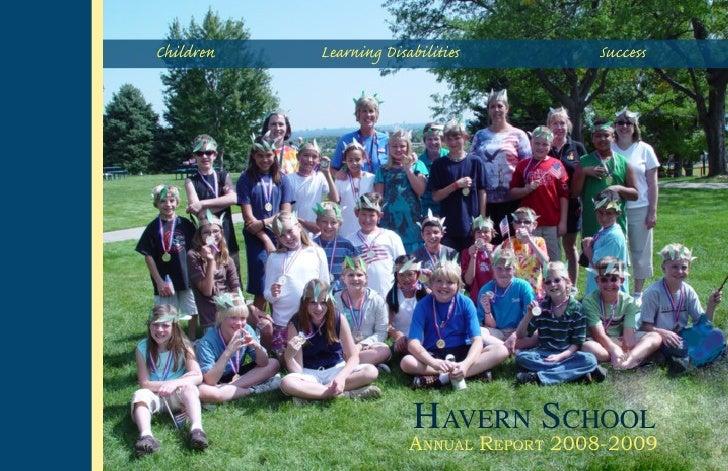 Children   Learning Disabiliti         Succ                             HAVERN SCHOOL                        ANNUAL REPO...