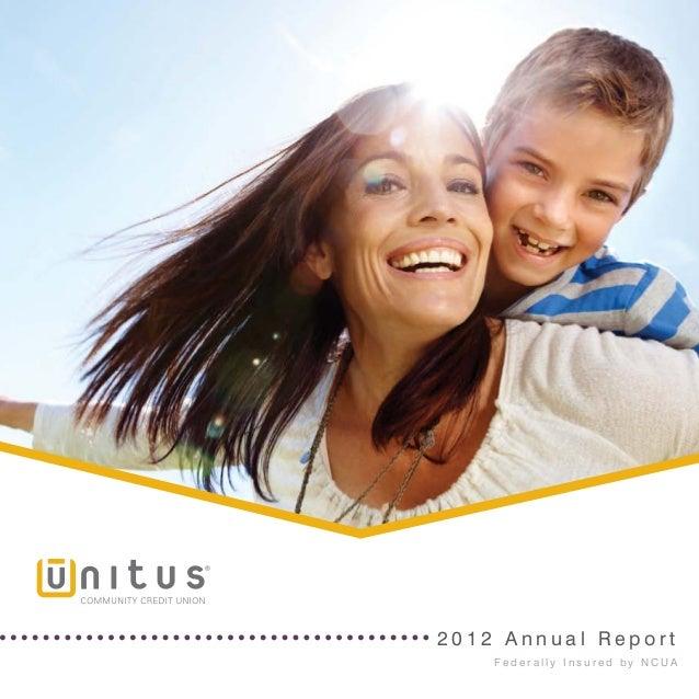 Unitus Community Credit Union - Annual Report 2012