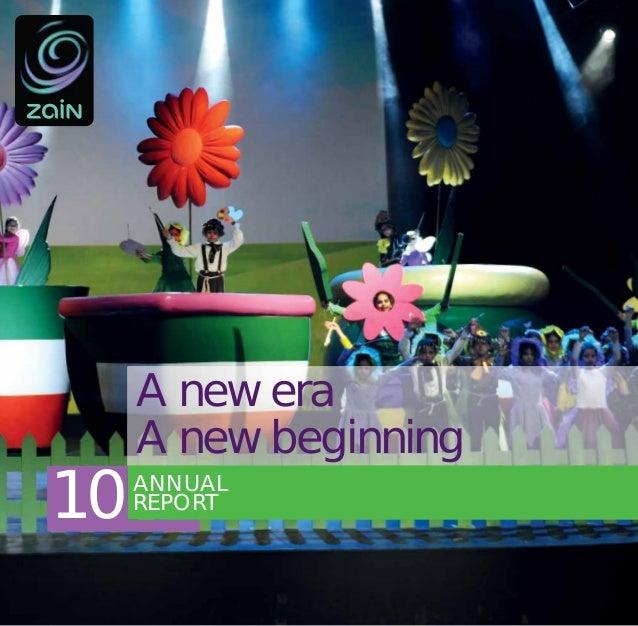A new era     A new beginning10   ANNUAL     REPORT