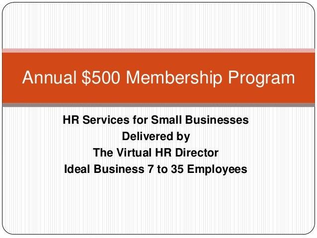 Annual $500 membership program